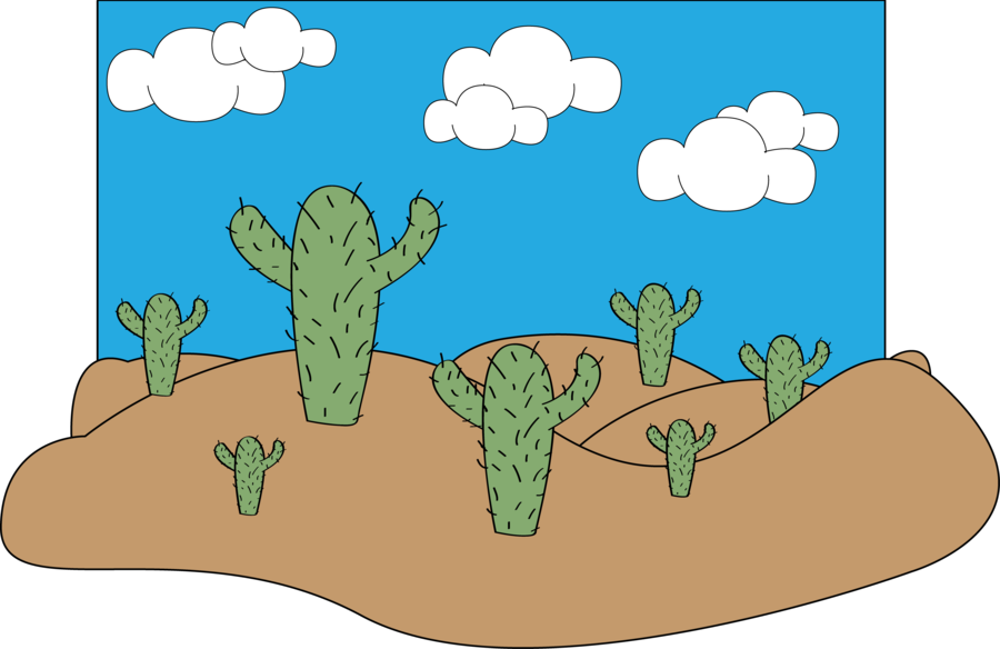 Desert cartoon png. Scene by lolasparks on