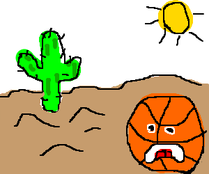 Desert clipart thirsty. Basketball dying of thirst