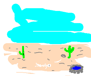 Desert clipart thirsty. Man dying of thirst