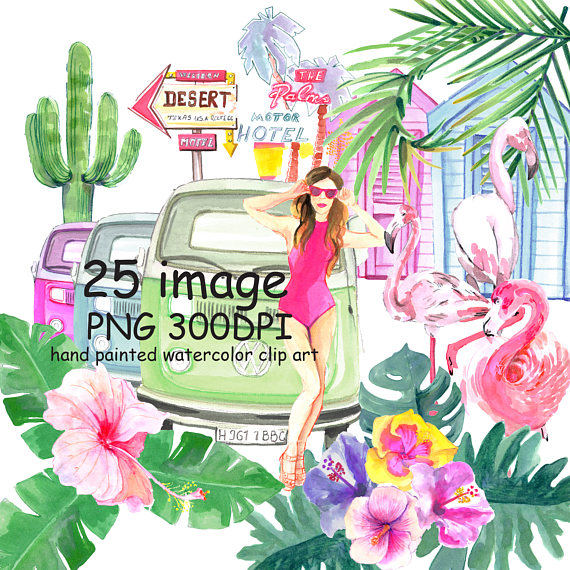 Desert clipart watercolor. Clip art palm springs