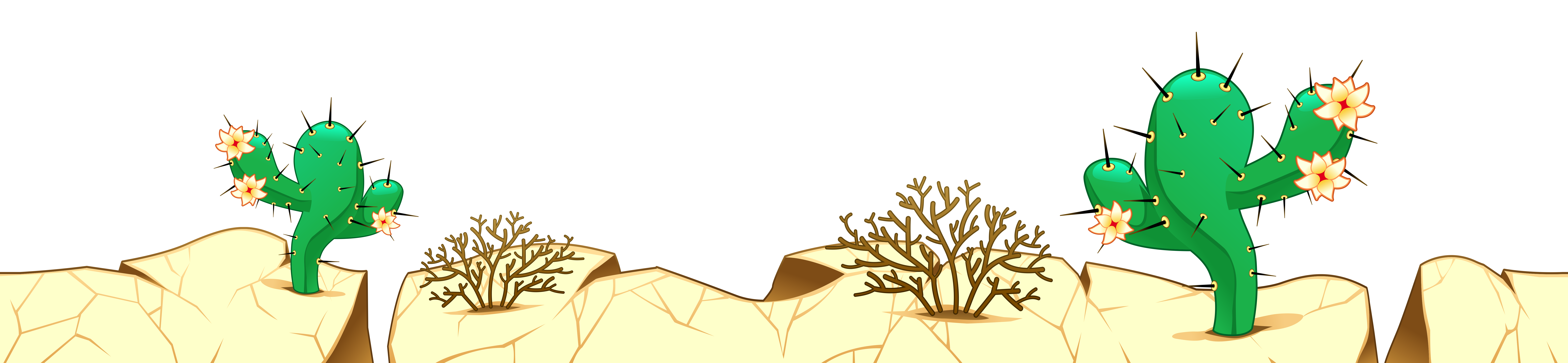 Desert png clipart. Ground with cactuses picture