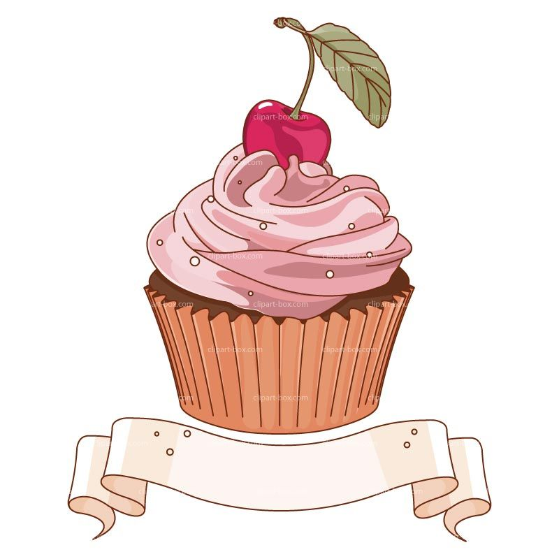 Design clipart cupcake. Banner royalty free vector