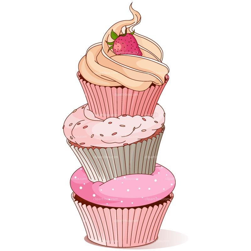 Design clipart cupcake. Tower royalty free vector