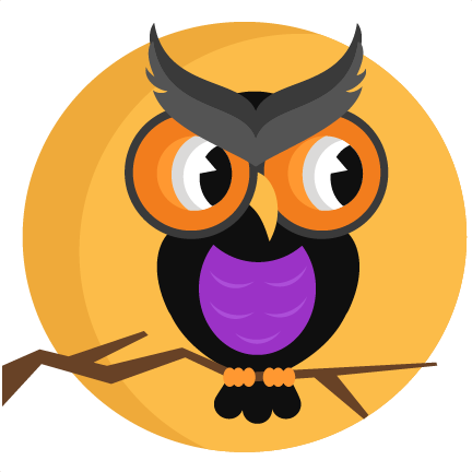 Design clipart owl. Halloween with moon svg