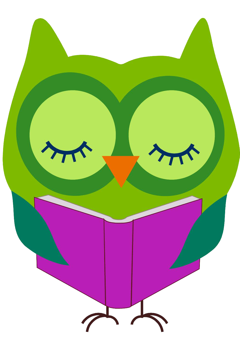 Reading clipart. Google search library owl