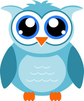 Design clipart owl. Stylist with transparent background
