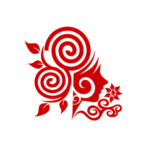 Design clipart swirl. Flower red girl with