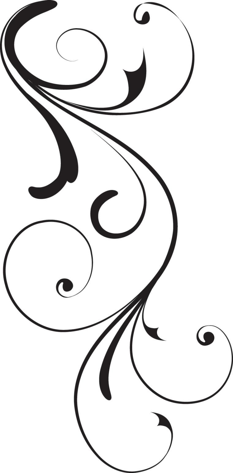 Design clipart swirl. Corner black royalty free