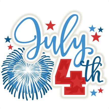 Weekend clipart. July th title svg