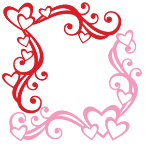 Design svg corner. Heart flourishes miss kate