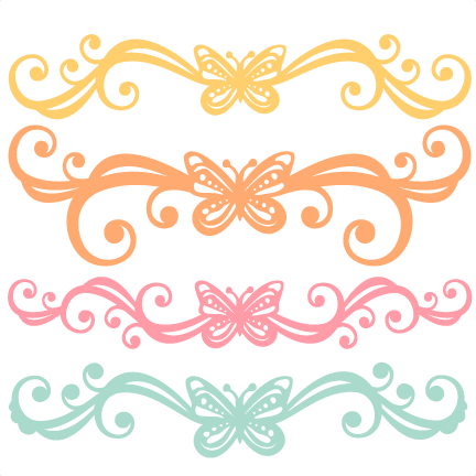 Design svg cute. Butterfly flourishes scrapbook cut