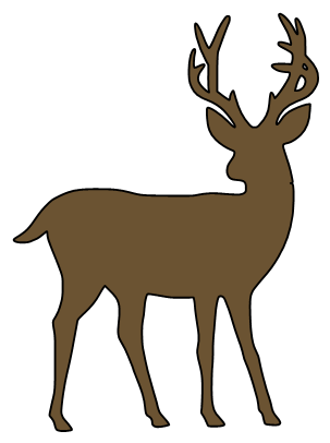 Svg design deer. Paper this and that