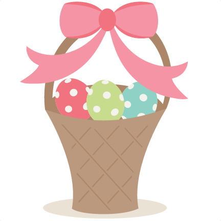 Basket scrapbook cut file. Svg silhouette easter clipart library