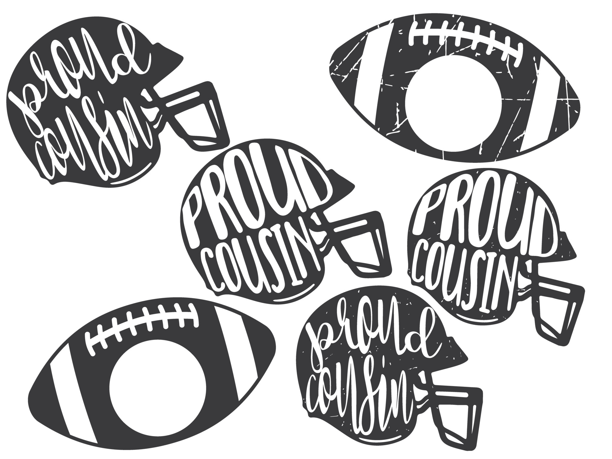 Distressed svg scratchy. Proud family football helmet