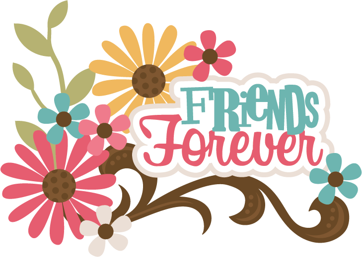 Design svg friend. Friends forever scrapbook title