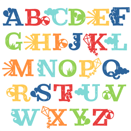 Design svg summer. Uppercase alphabet miss kate