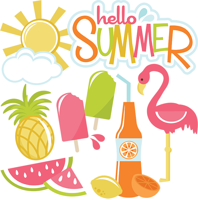 Svg design summer. Hello files for cutting