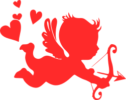 Svg design unique. Cupid file big heads
