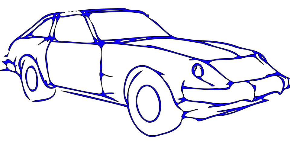 Vector sketches car. Collection of free designing