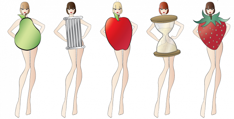 Diversity drawing body shape. What cocktail dress you