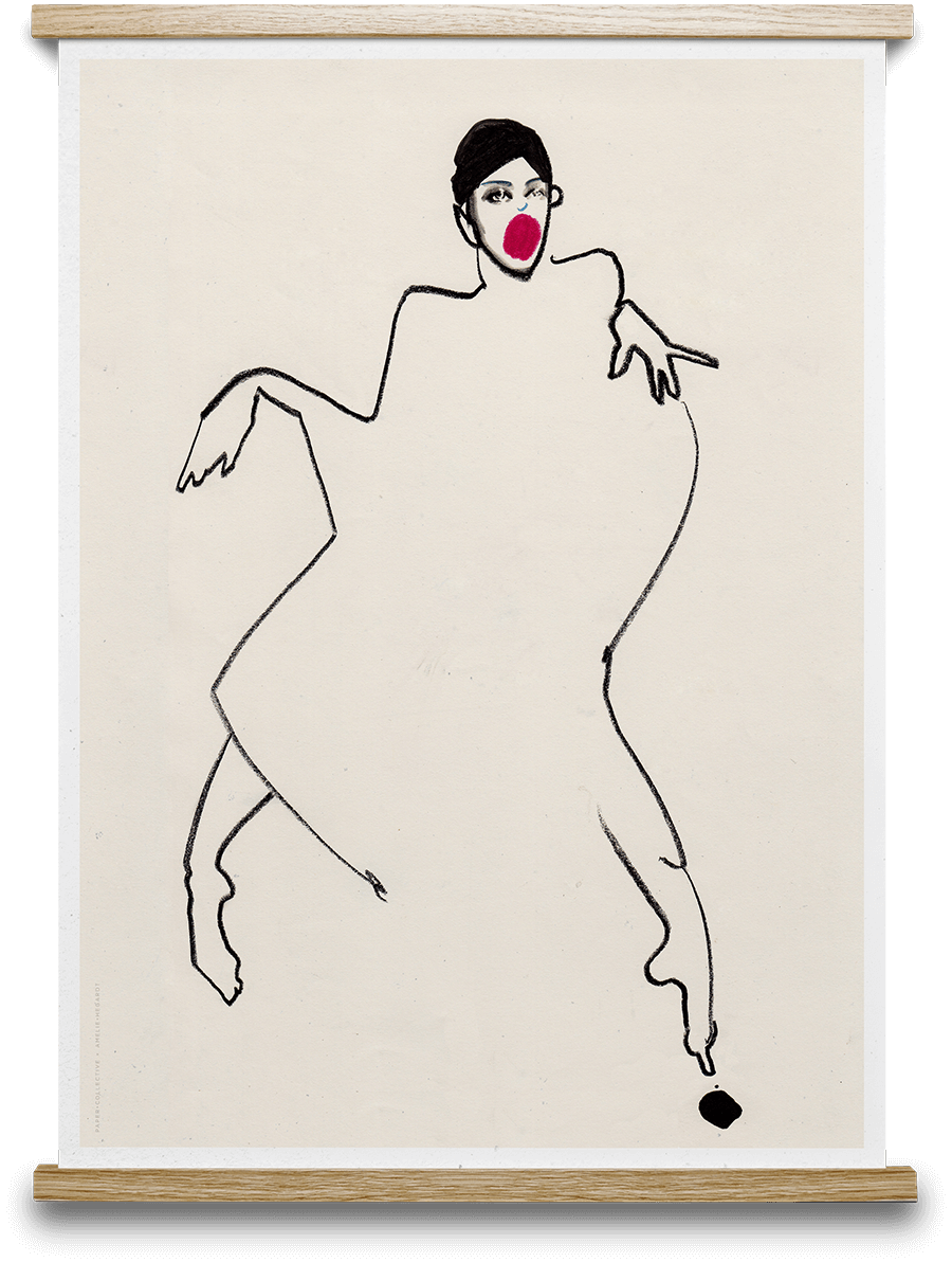 Dancer amelie and commercial. Schiele drawing sister image royalty free
