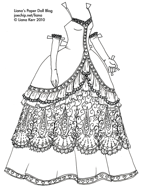 Designer drawing doll. Belated black and white