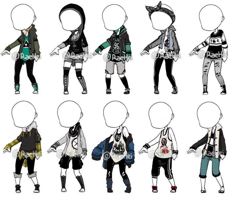 Maid drawing male. Outfit batch ref clothing