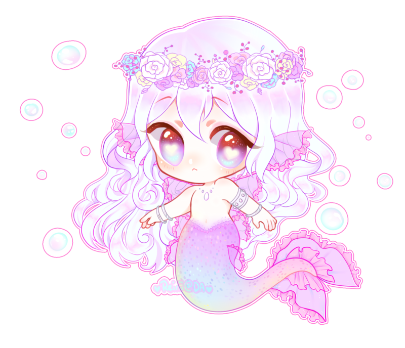 Transparent base mermaid. Made another lil v