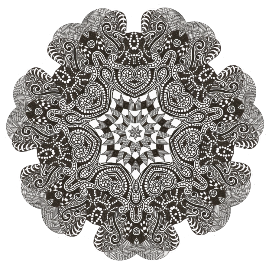 Silly zentangle inspired mandala. Tangle drawing pattern jpg library download