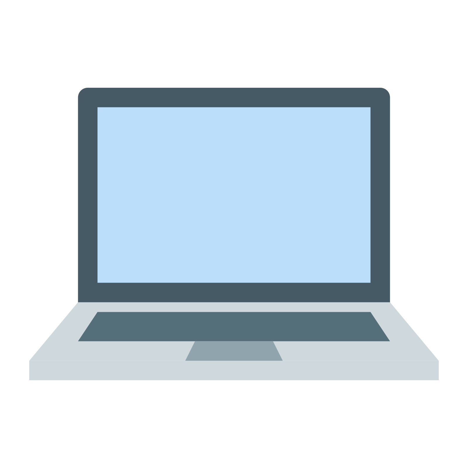 Designer vector hand laptop. Icon free download png