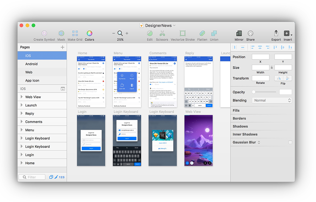 Designer vector ux. Top prototyping tools for