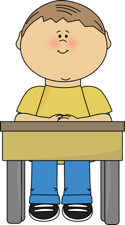 Sitting at desk class. Drawing boys school boy picture royalty free stock