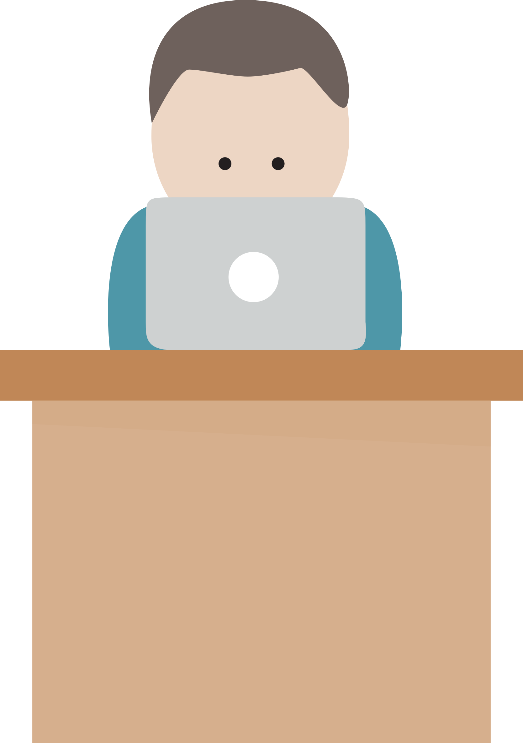 Desk clipart boy. With computer at big