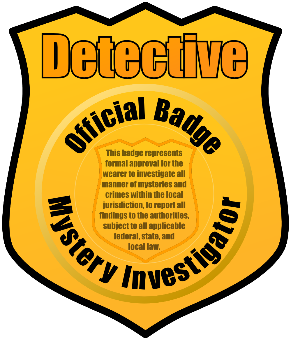 Badge clipart inspector. Detective