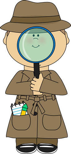 Magnifying clipart detective hat. Tutor tip science detectives