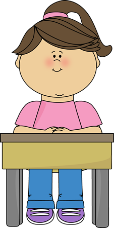 Sit clipart siting. Girl sitting at school