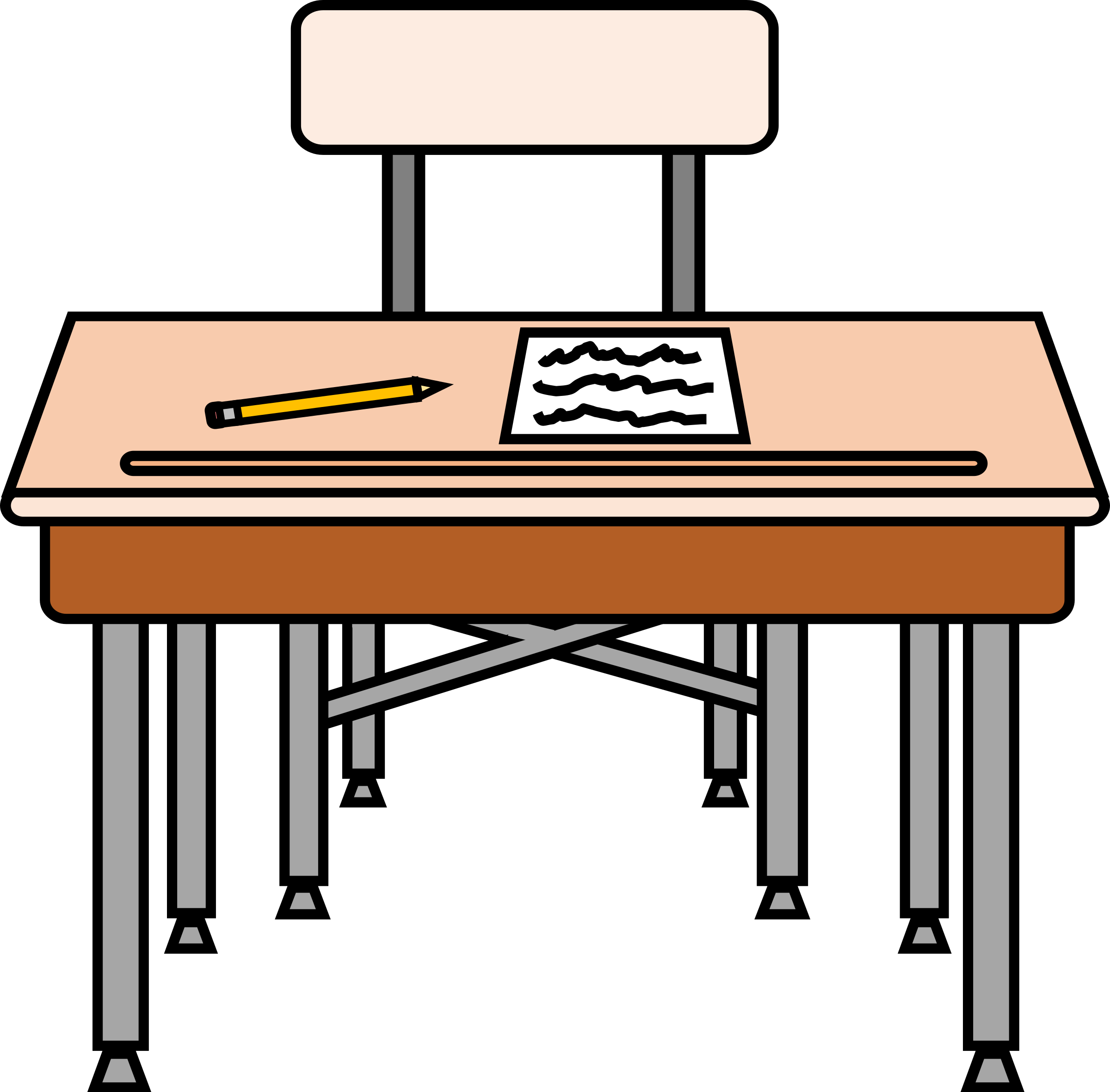 Desk clipart elementary school. Empty seat with a