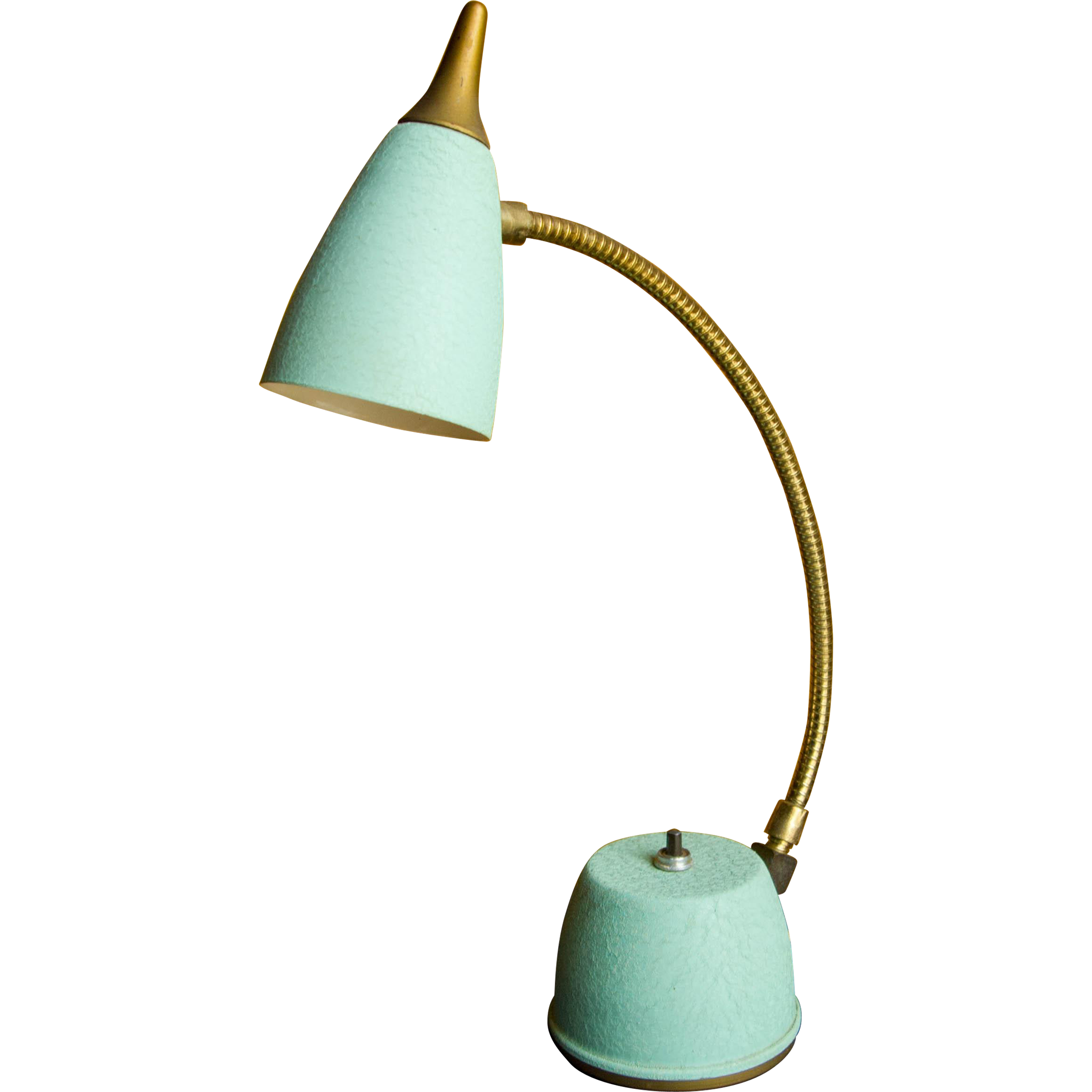 Desk lamp png. Vintage aqua green hi