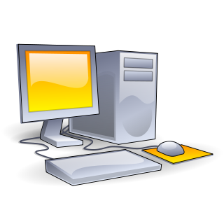 Desktop drawing computer system. Personal computers information literacy