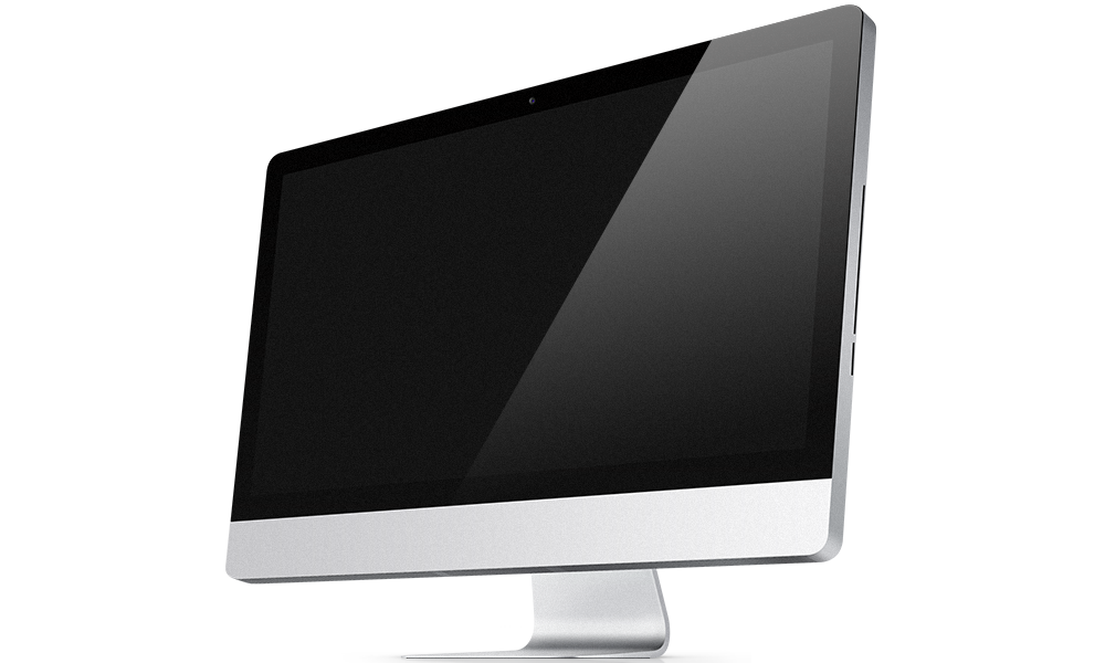 Desktop drawing imac. Svg supreme social theme