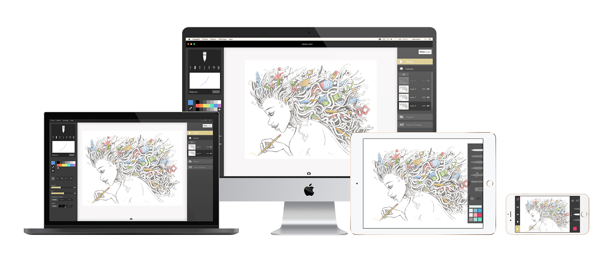 Desktop drawing imac. You can now use