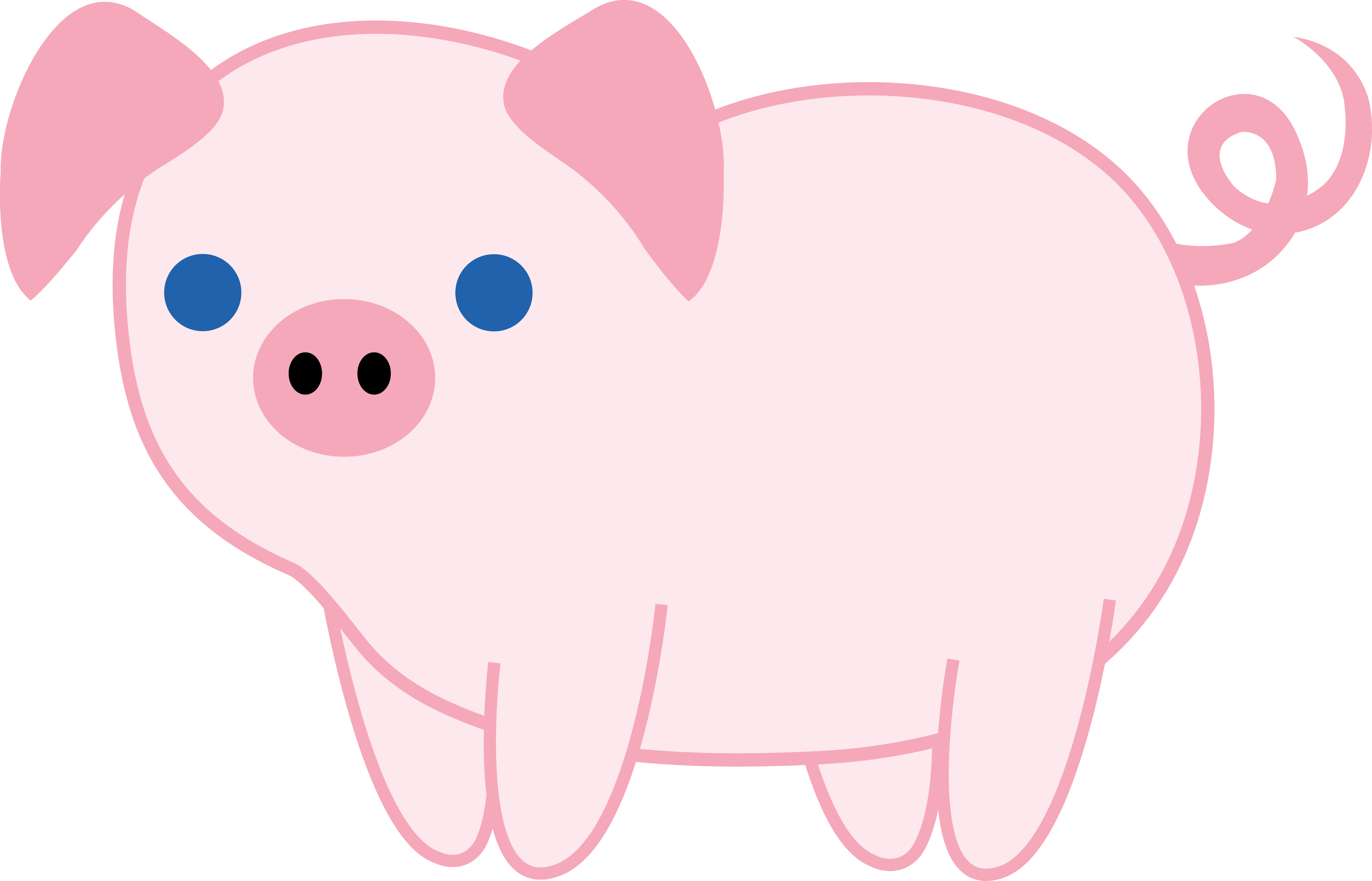 Cute animal clipart at. Pig clip art baby pig banner black and white library