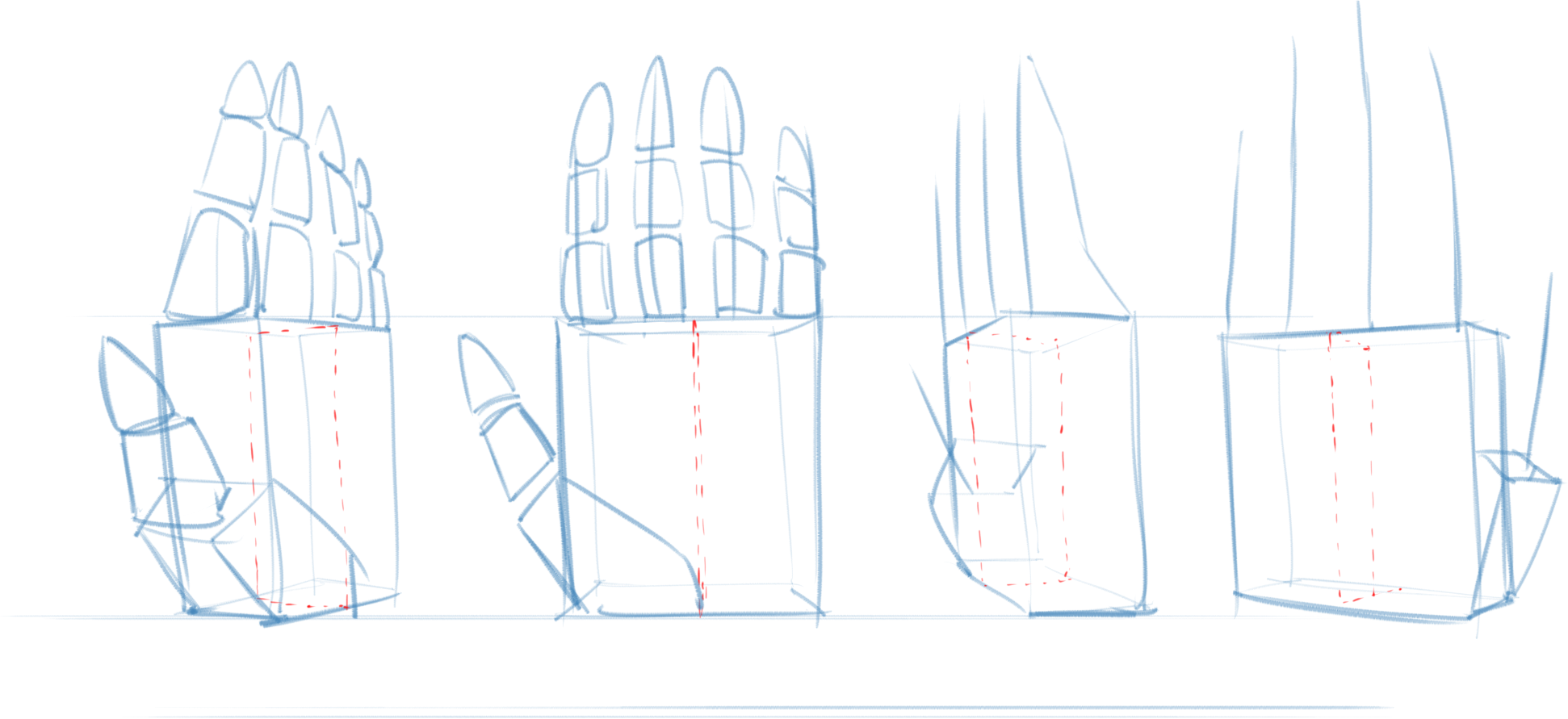 Confidence drawing body. How to draw hands