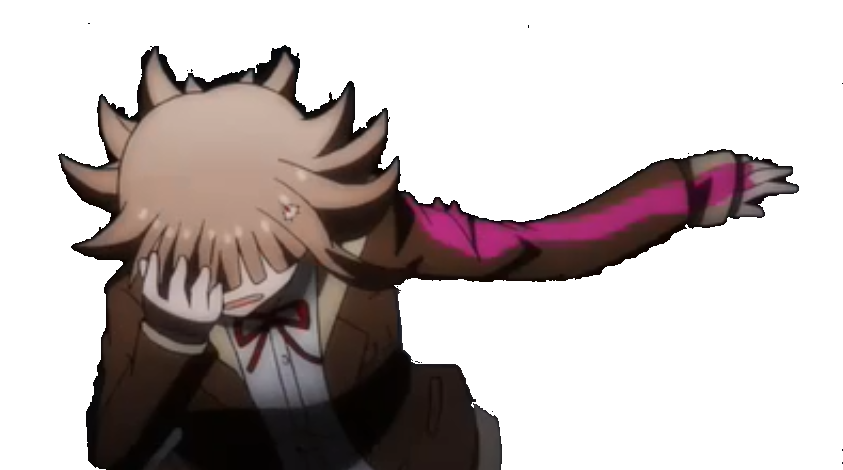 Despair drawing mouth. Chiaki canonly hitting a