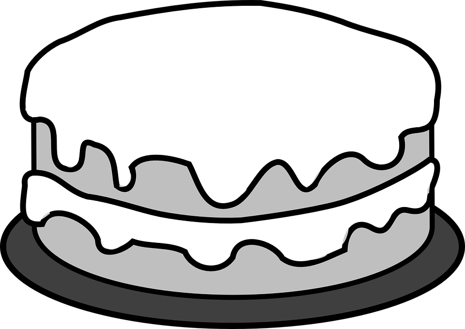 Sweets Clipart Object Picture 254103 Dessert Clipart Black And White