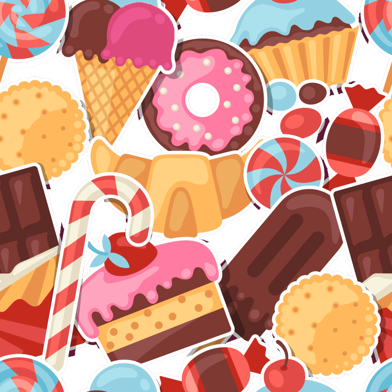 Dessert clipart colorful candy. Clip arts for free