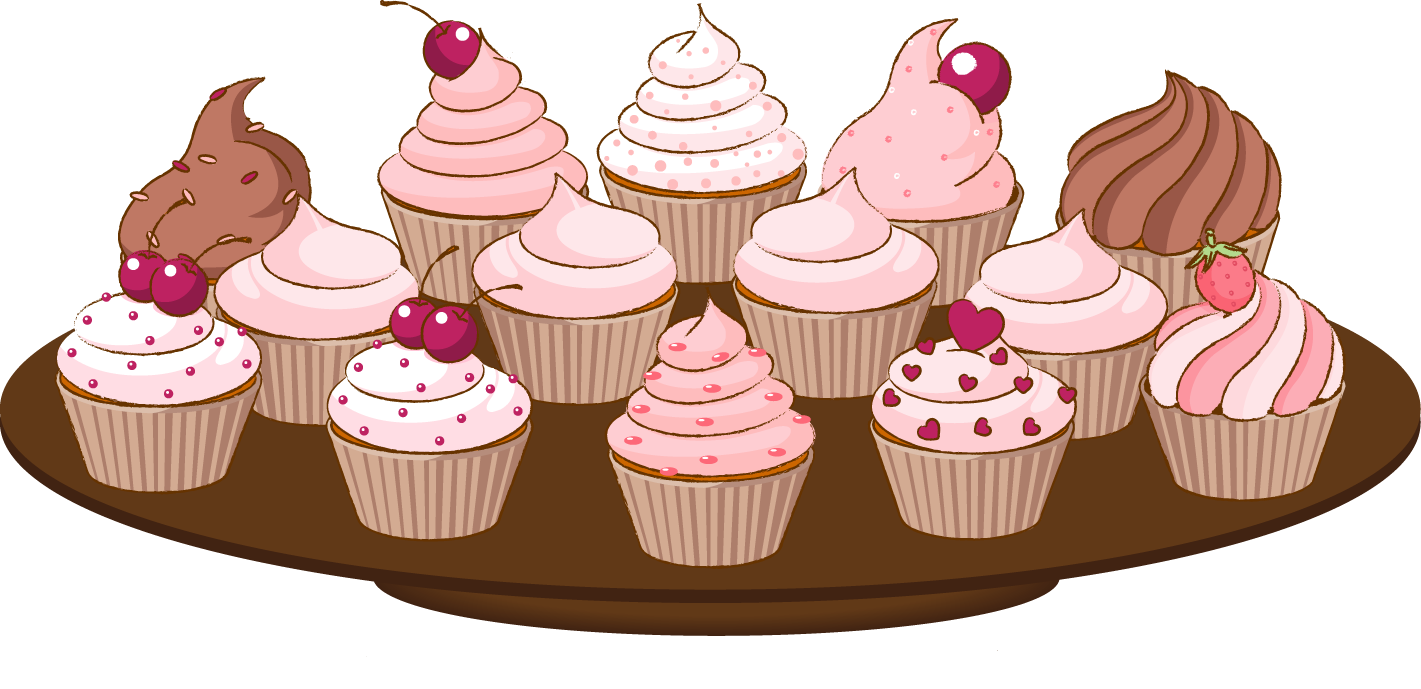 Free dessert border cliparts. Muffin clipart baked goods clip stock