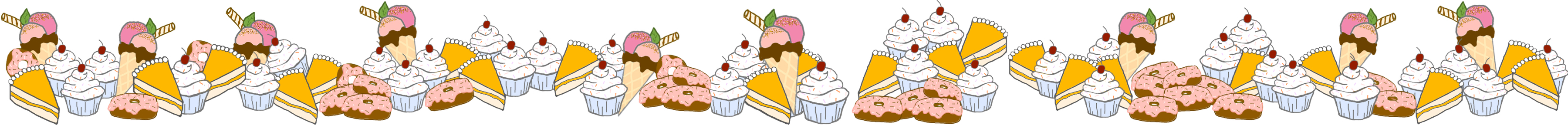 Desserts clipart borders. Strawberry candied fennel cake