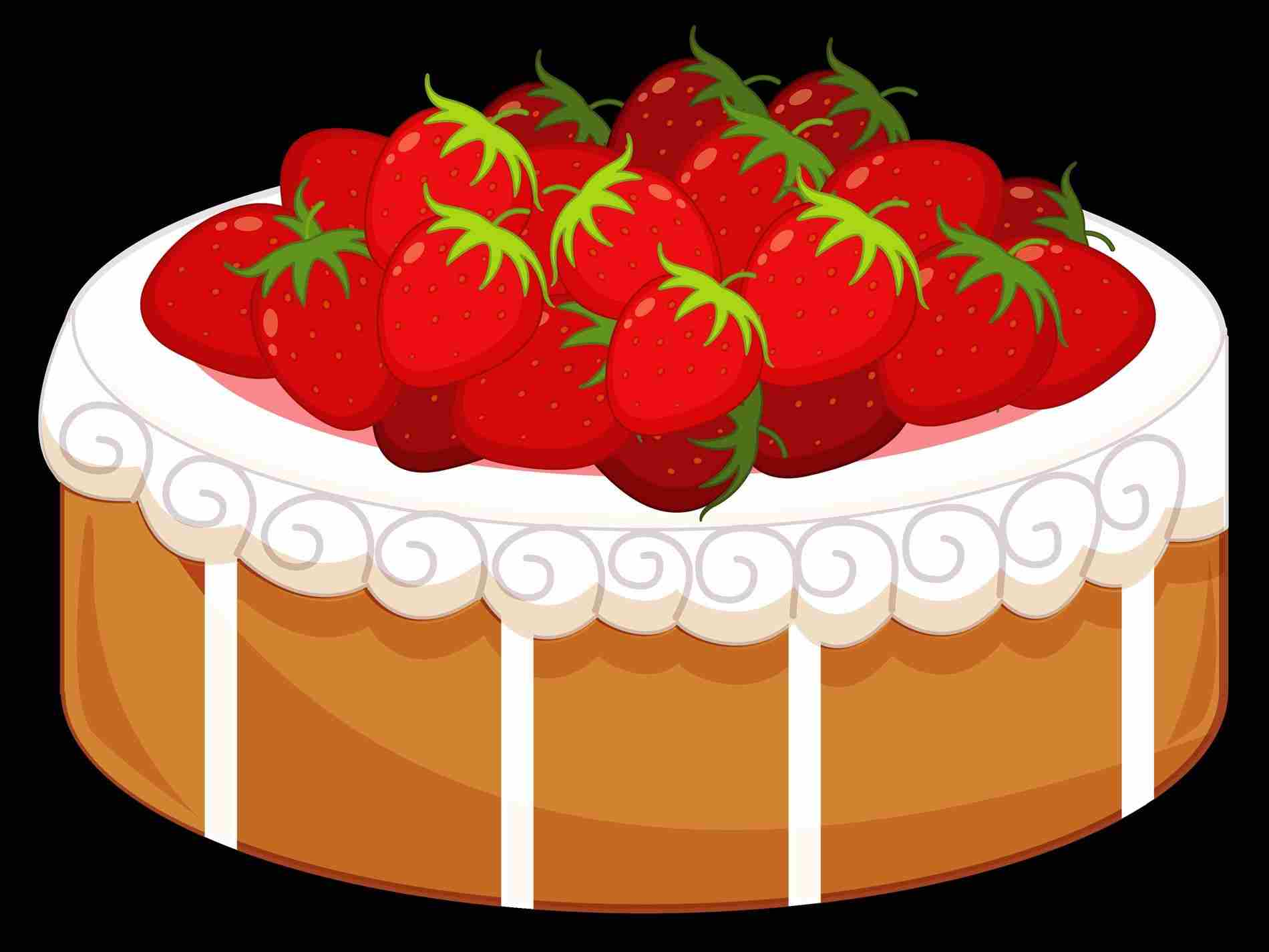 Desserts clipart cake. Dessert transparent with strawberries