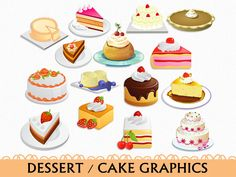 desserts clipart pastery